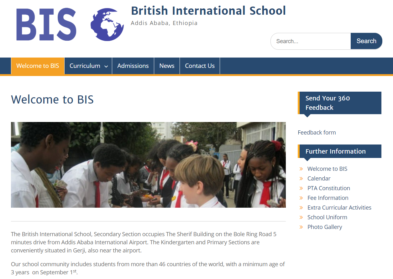We are a satellite of the British International School Addis